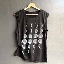 Moon Shirt – Shirts that Give Back – Women's gift ideas under $30 Lunar phases sleeveless shirt that gives back to charity by ROX Apparel