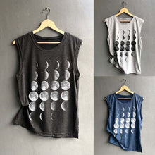 Moon Shirt – Shirts that Give Back to Charity– Women's gift ideas under $30 Lunar phases sleeveless shirt that gives back to charity by ROX Apparel