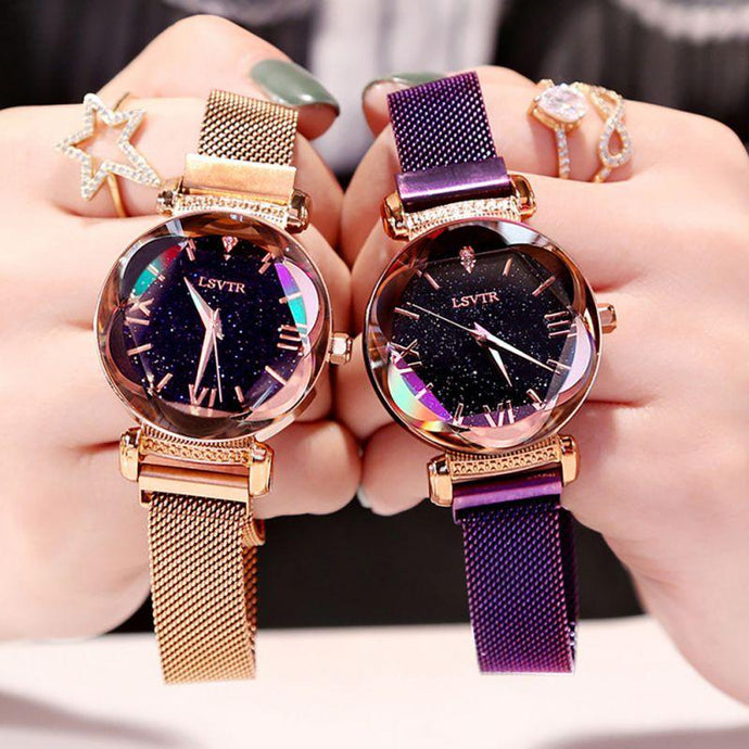 Iridescent Watch with Rose Gold or Purple Band that Gives Back to Charity by ROX Jewelry in Austin, Texas » Great Gift ideas for her under $50