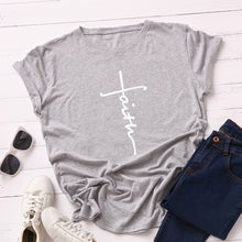 Faith Cross Shirt that Gives Back to Charity in Gray – Gifts for Chrisitan Women – ROX Apparel and More