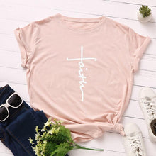 Pink Faith Cross Shirt that Gives Back to Charity – Gifts for Chrisitan Women – ROX Apparel and More – Gifts for her under $30