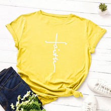Yellow Faith Cross Shirt that Gives Back to Charity – Gifts for Chrisitan Women – ROX Apparel and More – Gifts for her under $30