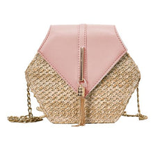 "Straw and Tassel ""Sunny Days"" Bag in Pink – Straw Bag – Tassel Purse under $50 – Purses that Give Back to Charity by ROX Jewelry Shop – Affordable Gift Ideas for Her"