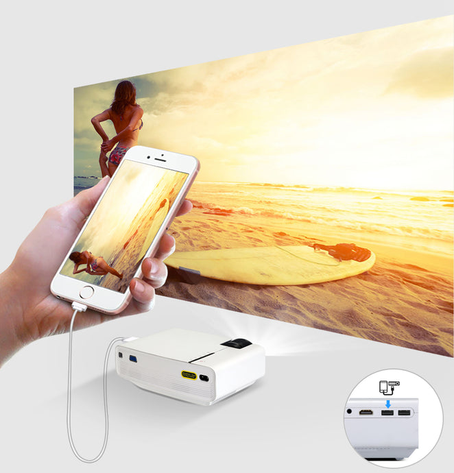 Mini LED Projector that Connects to Mobile Phone – Electronics for the Home  – Gifts that Give Back – Perfect Dorm Ideas – Gift Ideas for Her this Holiday Season – USB Projector under $300 – Must Have Holiday Electronics