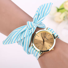 Blue Striped Scarf Watch that Gives Back to Charity by ROX Jewelry in Austin, Texas » Great Gift ideas for her under $50