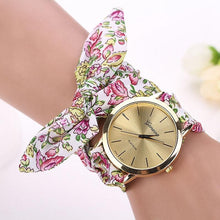 Pink and Green Floral Scarf Wrapped Watch that Gives Back to Charity by ROX Jewelry in Austin, Texas » Great Gift ideas for her under $40