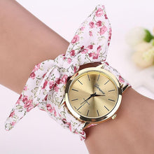Pink and White Floral Scarf Wrapped Watch that Gives Back to Charity by ROX Jewelry in Austin, Texas » Great Gift ideas for her under $40