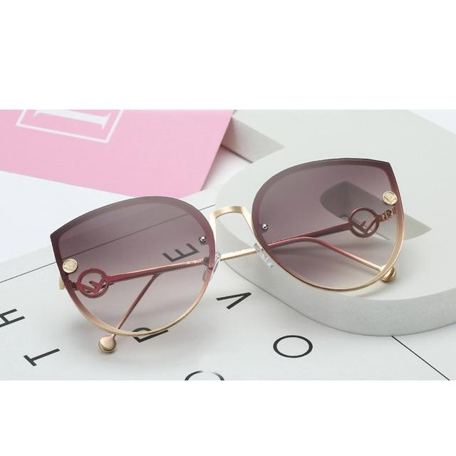 Round Cat Eye Sunglasses Sunglasses in Tea Fade – Casual Outfit Ideas – Sunglasses under $25 – Sunglasses that Give Back to Charity by ROX Jewelry
