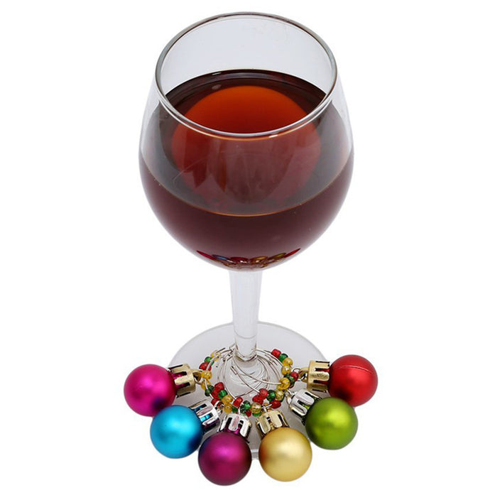 Ornament Wine Glass Charm Set