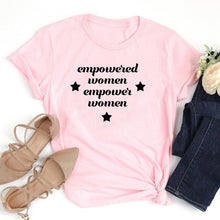 Empowered Women Empower Women Star Shirt in Pink that Gives Back to Charity – Feminist Gift – Gifts that Empower Women – ROX Apparel for Her Under $25 – the gift that gives back™