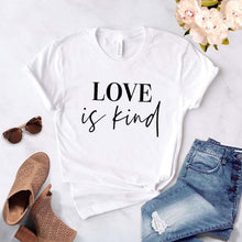 Love is Kind Shirt in White – Kind Shirt – Apparel that Gives Back to Charity by ROX Shirts in Kindness Collection – Positive Apparel – Casual Outfit Ideas