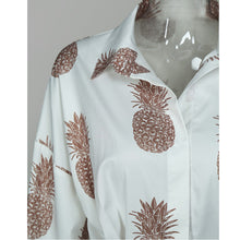 Pineapple Print Long Sleeve Dress – Dress outfits – spring and summer dresses – cute dresses casual – dress outfits – casual dresses – dresses that give back to charity – ROX dresses – dress trend 2020 – Casual Outfit Ideas Summer – long casual dresses – beach vacation outfit - Best Vacation Outfits – travel dresses – Summer fall transition dress