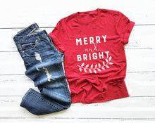 Merry and Bright Leaf Shirt