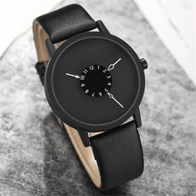 All Black Leather Women's Watch with Unique Watch Face – ROX Jewelry – Gifts that Give Back Under $40