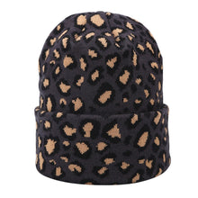 Leopard Print Beanie in Dark Gray – Leopard Print Accessories – Gifts that Give Back – ROX Winter Accessories for Her – Gift Ideas Under $30