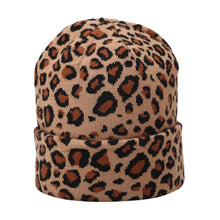 Leopard Print Beanie (Multiple Colors)