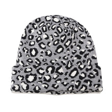 Leopard Print Beanie in Gray – Leopard Print Accessories – Gifts that Give Back – ROX Winter Accessories for Her – Gift Ideas Under $30