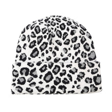 Leopard Print Beanie in White – Leopard Print Accessories – Gifts that Give Back – ROX Winter Accessories for Her – Gift Ideas Under $30