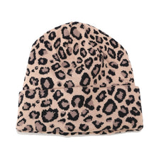 Leopard Print Beanie in Khaki – Leopard Print Accessories – Gifts that Give Back – ROX Winter Accessories for Her – Gift Ideas Under $30