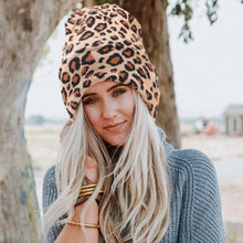 Leopard Print Beanie in Coffee – Leopard Print Accessories – Gifts that Give Back – ROX Winter Accessories for Her – Gift Ideas Under $30