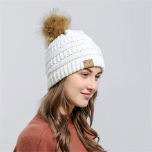 Knit Pom Pom Beanie in White – Vegan Fur Pom Beanie – Gifts that Give Back – ROX Winter Accessories for Her – Vegan Gift Ideas Under $30