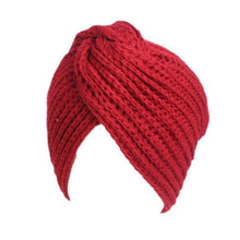 Knitted Beanie in Red – Cross Knitted Turban Beanie – Gifts that Give Back – ROX Winter Accessories for Her – Gift Ideas Under $25