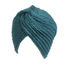 Knitted Beanie in Teal – Cross Knitted Turban Beanie – Gifts that Give Back – ROX Winter Accessories for Her – Gift Ideas Under $25