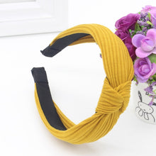 Knotted Fabric Headband in Yellow – Knotted Headbands for Women – Gifts that Give Back – ROX Accessories for Her – Gift Ideas Under $20