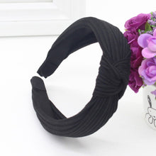 Knotted Fabric Headband in Black – Knotted Headbands for Women – Gifts that Give Back – ROX Accessories for Her – Gift Ideas Under $20