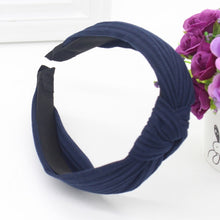 Knotted Fabric Headband in Navy Blue – Knotted Headbands for Women – Gifts that Give Back – ROX Accessories for Her – Gift Ideas Under $20