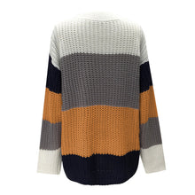 Striped Sweater in Burnt Orange – Chunky Knit Sweater – Neutral striped sweater – Color Blocked Sweaters – Trendy Sweaters that Give Back to Charity – ROX. the gift that gives back™