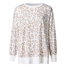 Leopard Long Sleeve Sweater with Side Slits – Casual Outfit Ideas – Animal Print Sweater – Sweatshirts for Her – Trendy Sweaters that Give Back to Charity – ROX the gift that gives back™ – Gifts Under $40 for Her
