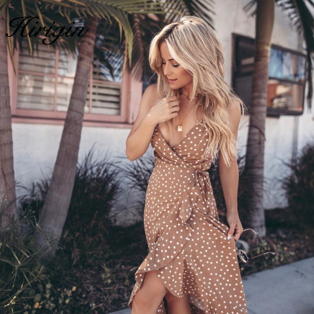 Endless Summer Nude Wrap Dress – Dress outfits – spring and summer dresses – cute dresses casual – dress outfits – casual summer dresses – dresses that give back to charity – ROX dresses – dress trend 2020 – Casual Outfit Ideas Summer 2020 – long casual dresses – beach vacation outfit - Best Vacation Outfits – travel dresses