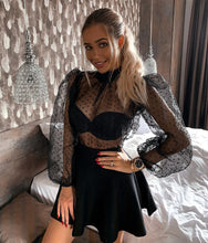 Sheer Puff Long Sleeve Dot Top in Black – cute outfits top outfit jeans – date night outfit – casual summer outfit – puff sleeve – long sleeve shirt – sheer long sleeve tops – Crop top outfit – puff sleeve long sleeve shirt – Crop Top Outfit Ideas Summer – long sleeve sheer Cute tops – polka dot tops – puffy sleeve top outfits