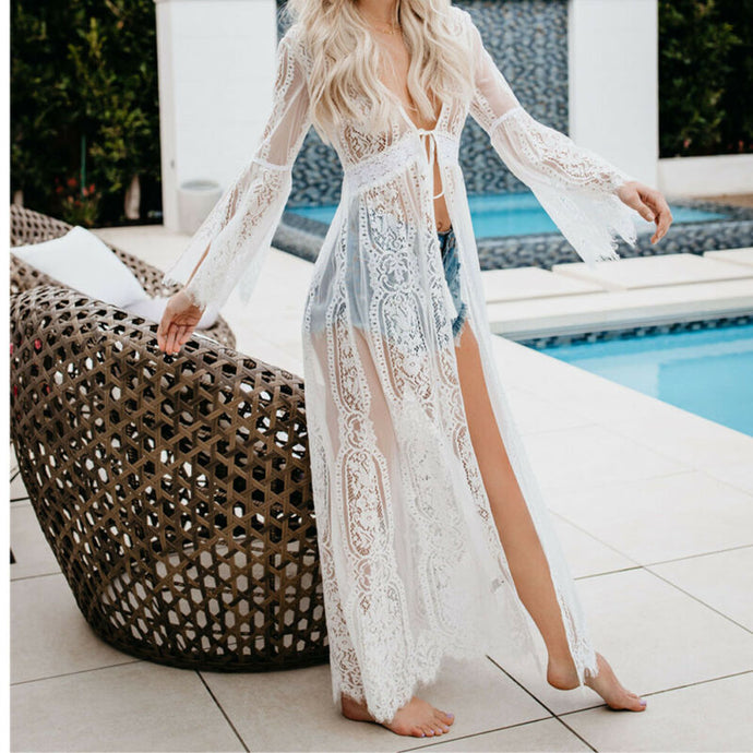 Bit of Boho Lace Swimsuit Cover Up in White – Swimsuit coverups beach – swimsuit coverups boho – Beach cover up – bathing suit cover up – beachwear for women – swimsuit cover up – summer 2020 beach outfit – beach vacation outfit – must have beach outfit – coverups that give back to charity