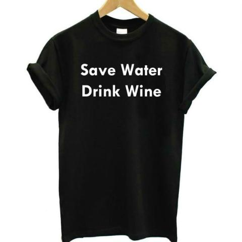 Save Water Drink Wine Shirt That Gives Back to Charity » Great gift for wine lovers under $25 » ROX Apparel