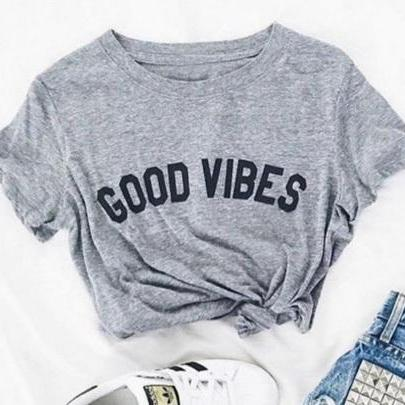 Good Vibes Women's T-Shirt Giving Back to Charity ROX Jewelry Shop Austin Texas 2018 Summer Shirt Trends