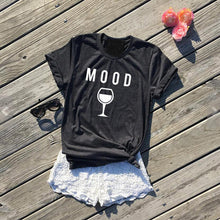 Mood: Wine Shirt Giving Back to Charity by ROX Jewelry Funny wine shirt gift merlot lover wino fashion graphic tee for women