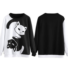 Ying Yang Cat Pull Over Sweatshirt that Gives Back to Charity • Gift ideas for Cat Lovers by ROX