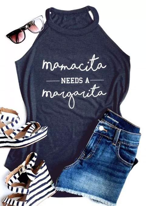 Mamacita Needs a Margarita Tank that Gives Back to Charity by ROX – Great gifts that give back for her under $25 – Apparel for a cause Great gifts for moms
