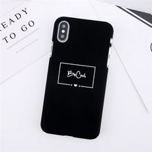 Black Be Cool Cute iPhone case fits iPhone x print case – Tech accessories that give back – ROX Jewelry