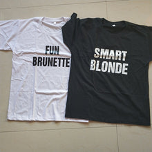 Fun Brunette and Smart Blonde Shirts that Give Back to Charity, Shirts for breaking stereotypes by ROX