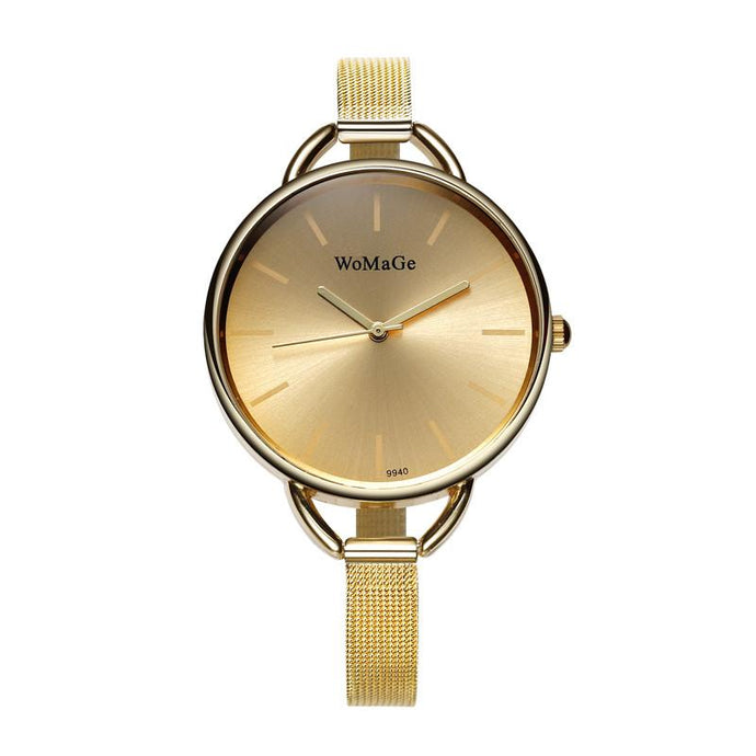 Affordable Stylish Women's Watches that Give back to charity by ROX Jewelry - Amber Watch in Gold