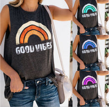Good Vibes Retro Rainbow Tank that gives back to charity ROX Apparel The Affordable Gift That Gives Back