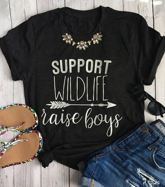 Support Wildlife Raise Boys Shirt that Gives Back to Charity by ROX – Great gifts that give back for her under $25 – Apparel for a cause Great gifts for moms