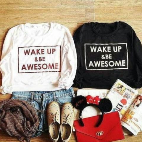 Wake Up and Be Awesome Shirt that Gives Back to Charity » ROX Apparel For her Great Gift Ideas for Women