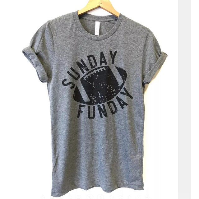 Sunday Funday Football  Shirt that Gives Back to Charity by ROX – Great gifts that give back for her under $30 – Apparel for a cause
