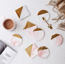 Pink Marble and Gold Coasters that give back to charity by ROX Home Decor - Luxe Modern Home decor ideas under $15