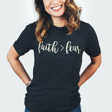 Faith > Fear Shirt that Gives Back to Charity by ROX, gift ideas for those of faith, christ themed gift ideas