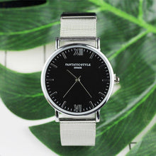 Silver Watch with Black Face and Roman Numerals that Gives Back to Charity – Metal Women's Watches under $25 – Pretty Little Things Watch Sale – Gifts that Give Back – Affordable Gift Ideas for Girlfriend – ROX Jewelry